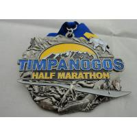 Buy cheap Zinc Alloy Die Casting Iron or Brass or Copper Timpanogos Half Marathon Medal with Glitter product