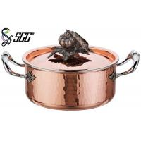 Buy cheap 18CM Noble Hand Hammered Copper Pots and Pans For Cooking Pot product