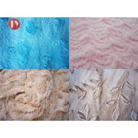 China Brushed Embossed Plush Toy Fabric 100% Polyester PV Plush Shrink - Resistant on sale