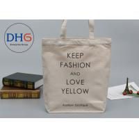 China Printed Custom Canvas Shopping Bags Giveaway For Business Advertisement on sale