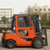 Buy cheap Side Shift 3 .5 Ton Gas Powered Forklift , 4 Wheel Drive Forklift With Cabin product