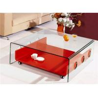 Buy cheap Beautiful Crystal Clear Home furniture BENT TEMPERED GLASS COFFEE TABLES product
