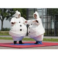 Buy cheap White Inflatable Cartoon Sumo Suits With Foam / Sumo Wrestler Costume from wholesalers