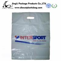 Buy cheap Die Cut Patch Handle Bags for Supermarket , Plastic packing bag product
