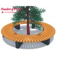 Buy cheap Large External Circular Wooden Wrap Around Tree Bench Multifunction Customized product