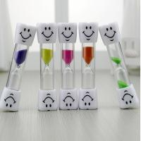 Buy cheap 3 Minutes Hourglass Kids Toothbrush Timer Smiley Sand Timer 3 Minutes Timer ON product