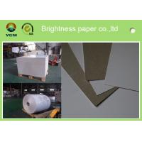 Buy cheap 230g - 450gsm Grey Back Duplex Paper Board In Roll And Sheet SGS Certified product