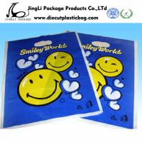 China Blue Punch garment Die Cut Handle Bags LDPE polybag environment for T Shirt on sale