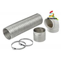 China Expandable Semi-Rigid Flexible Aluminum Pipe Duct with Clamps for Heater wholesale