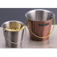 Buy cheap Portable Gold plated Porcelain Dinnerware Sets / Round Fried Chicken Bucket product