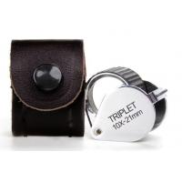 Buy cheap Folding Triplet Jewelers Loupe Magnification Of 10x For Checking Gem Diamond product