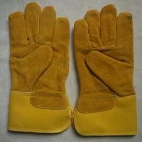 China cow spilt leather industrial working gloves safety mechanic gloves for workers on sale