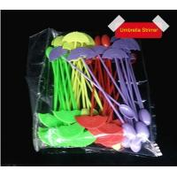 Buy cheap 194mmx35mm Disposable White Plastic Cutlery PS Umbrella Shape Stirrer product
