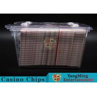 Buy cheap Anti - Theft Transparent 8 Decks Poker Discard Holder For Card Entertainment product