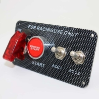 Buy cheap 12V 30A Ignition Switch Engine Start Push Button 2 Toggle Panel with Indicator Light DIY Racing Car Modification Switch product