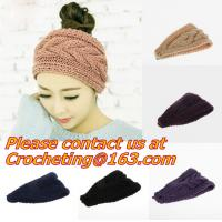 Quality Cute Crochet Headbands Hair Head Band Bow Kid Baby Girl Accessories Knitted Headwrap Hair Band Fashion Knotted Crochet for sale