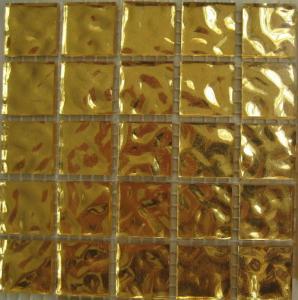 Buy cheap 10кс10мм, плитки мозаики золота 24к 20кс20мм, лоснистые плитки стены мозаики для гостиницы product