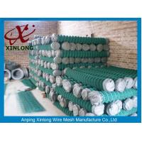 China Low Carbon Steel Wire Diamond Chain Link Fence / Sports Ground Fencing on sale