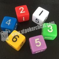 Buy cheap Customizable Gambling Accessories / Permanent Point Casino Game Dice product