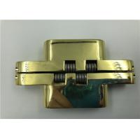 Buy cheap Gold Plated Hidden Door Hinges For 30mm Solid Wood Doors , Fireproof Door product