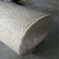 Buy cheap Rock wool blanket insulation with wire mesh for oven insulation product