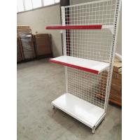 China Supermarket Convenience Store Wire Mesh Shelves , White Wire Shelving Units wholesale