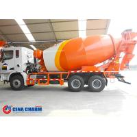 China Small Concrete Mixer Pump Truck , Volumetric Front Discharge Cement Trucks on sale