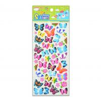 Buy cheap 3D Butterfly Colorful Design Eco-friendly DIY Stickers Manufacture With Low Cost High Quality product