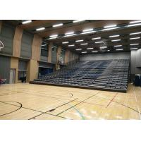 Buy cheap Upholstered retractable audience seating , Temporary Spectator Stands for School product