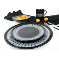 Buy cheap Home Use Ceramic Dinnerware Sets Fashionable Hand Painted Black Color product