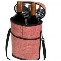 Buy cheap Single Handle Insulated Freezer Bags Water Resistant Polyester Made For Wine product