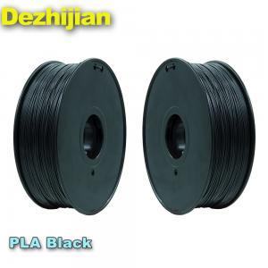 China Black 3d Printer Filament PLA 1.75 Mm Heating Bed Temperature 50℃ on sale