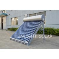 China Silver Fluorocarbon PVDF Plate Solar Hot Water Heater Low Pressure Vacuum Tube on sale