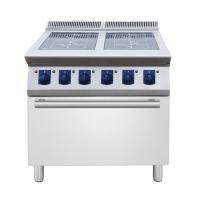 Buy cheap 4 ring Induction on open cupboard catering equipment  commercial induction range hob from wholesalers