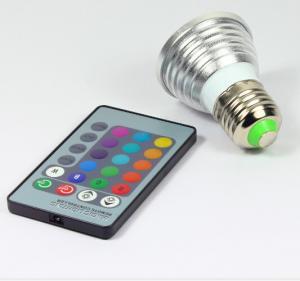 China 3W RGB LED COB ceiling Spotlights RGB led remote controller lathe aluminum body E27 bulb wholesale
