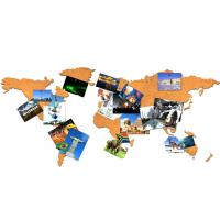 China New Style Factory Wholesale 16 Pieces Adhesive Corkboard World Map for a Gift on sale