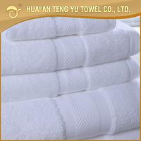 China Luxury White 100%ring spun hotel cotton bath towel good in water absorbent on sale