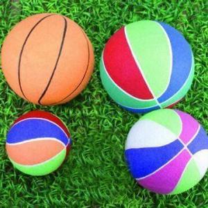 Забавляйтесь баскетболы, сделанные из резины и войлок полиэстера, различные размеры и цвета доступны