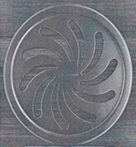 Drain de plancher d'acier inoxydable de l'Europe Amérique d'exportation Cover2 avec le cercle (Ф150.8mm*3mm)
