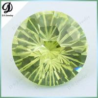 China 15mm fireworks cutting Loose Gemstone Wholesale Apple Green CZ on sale