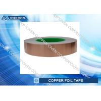 Buy cheap 1 x 55 yds - 1 Mil Copper Foil Shielding Tape , self adhesive copper foil sheets product