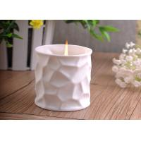 Buy cheap White Tealight Ceramic Candle Holder Embossment 290ml Large Capacity product