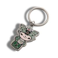 China Delicate Custom Enamel Keychain / Cartoon Character Keychains For Anniversary on sale