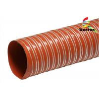 Buy cheap Iron Oxide Red Silicone Coated Fiberglass Fabric High Temperature Flexible Duct product