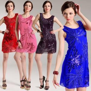 Buy cheap nuevos sundress del bordado de la lentejuela del árbol de coco del vestido del evenin de la moda product