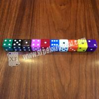 Buy cheap Gamble Device Casino Magic Dice / Telecontrol Dice With Earpiece To Tell Result product