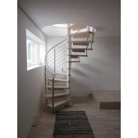 Buy cheap Spiral Staircase Stainless Steel Balustrade Woonden Treads Stairs product
