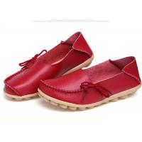 Buy cheap Womens Casual Leather Shoes Moc toe stylish with Soft Flat Outsole women footwear from wholesalers