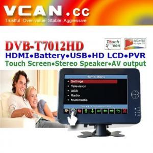 China DVB-T7012HD 7 inch Portable handheld HD DVB-T dvb-t TV receive box on sale