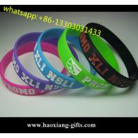 China President selection custom embossed/ debossed silicone wristband silicone bracelet on sale